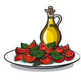 Salad with basil Royalty Free Stock Image
