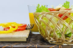 Salad in basket Royalty Free Stock Photos