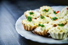 Salad in baskets, baskets for food Stock Image