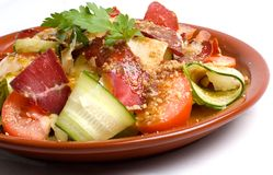 Salad with Basturma Royalty Free Stock Photo