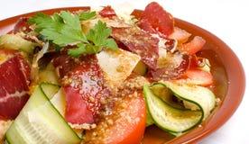Salad with Basturma (Pastrami) Stock Photo