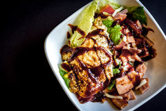 Salad With BBQ Sause Royalty Free Stock Photo