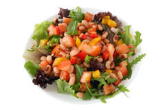 Salad with beans Royalty Free Stock Image