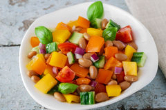 Salad with beans bell pepper and tomato Stock Photos