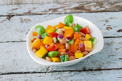 Salad with beans bell pepper and tomato Royalty Free Stock Photo