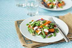 Salad with beans, carrots and feta Royalty Free Stock Image