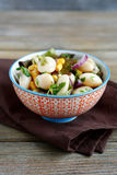 Salad of beans, onions, and corn in a bowl Stock Image