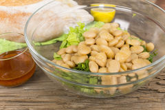 Salad with beans and squid Stock Photo