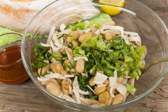 Salad with beans and squid Stock Images