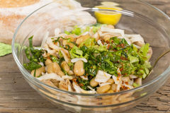 Salad with beans and squid Royalty Free Stock Photos