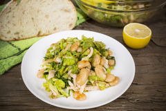Salad with beans and squid Royalty Free Stock Photography