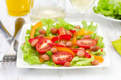 Salad with beans, tomato Stock Images