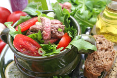 Salad with beef Royalty Free Stock Photo
