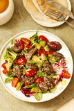 Salad beef steak with lettuce and tomatoes Stock Photo