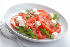 Salad with beef tomatoes and feta Stock Images