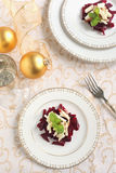 Salad with beet, apple and mint Royalty Free Stock Photography