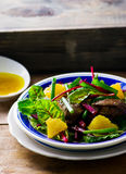 Salad with beet and a chicken liver on Royalty Free Stock Images