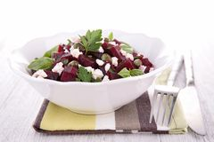 Salad with beet and feta Stock Photo