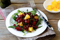 Salad with beet and orange Stock Image