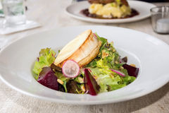 Salad of beet-root with goat cheese Royalty Free Stock Image