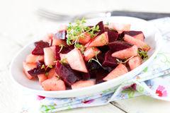 Salad with beetroot and apple Royalty Free Stock Image