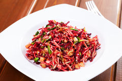 Salad with beetroot and celery Royalty Free Stock Image