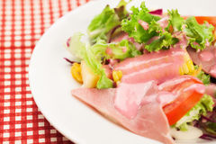 Salad with beetroot dressing Stock Photography