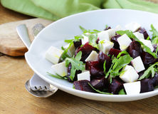 Salad with beetroot and feta cheese Royalty Free Stock Images