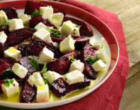 Salad with beetroot and feta cheese Stock Images