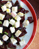 Salad with beetroot and feta cheese Royalty Free Stock Photography