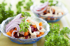 Salad with beetroot and herring Stock Photos