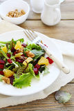 Salad with beetroot and nuts Royalty Free Stock Images