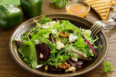 Salad with beets, blue cheese, Stock Image