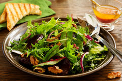 Salad with beets, blue cheese, Royalty Free Stock Image