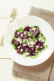 Salad with beets, spinach and goat cheese Royalty Free Stock Photography