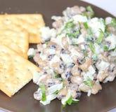 Salad of black eye beans. A fresh salad of black eye beans stock photo