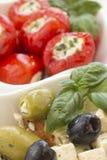 Salad of black, green olives Stock Image