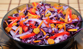 Salad of blue cabbage Stock Image
