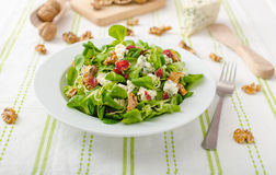 Salad with blue cheese and balsamic dressing Stock Photo