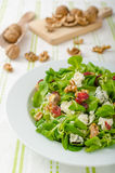 Salad with blue cheese and balsamic dressing Royalty Free Stock Photos