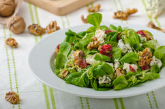 Salad with blue cheese and balsamic dressing Stock Images