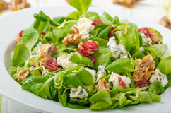Salad with blue cheese and balsamic dressing Royalty Free Stock Images