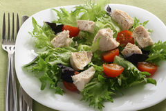 Salad with boiled chicken Stock Photography