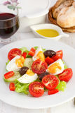 Salad with boiled egg Royalty Free Stock Photo