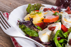 Salad with boiled egg Stock Photo