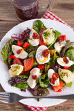 Salad with boiled egg Royalty Free Stock Photography