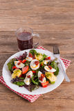 Salad with boiled egg Royalty Free Stock Photos