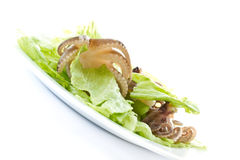 Salad with boiled octopus Royalty Free Stock Image