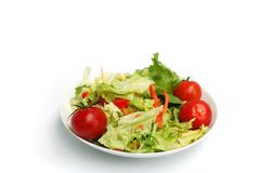 Salad in bowl royalty free stock photo