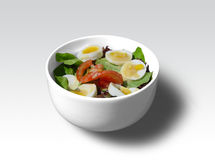 Salad bowl. Fresh salad bowl stock image